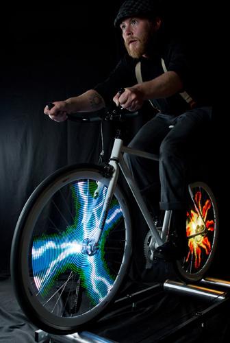 led灯在自行车轮上的妙用