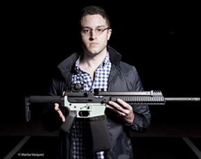 科迪 威尔森/美国政府9日发出禁令,要求全球首只3D 打印手枪的制作者科迪·...