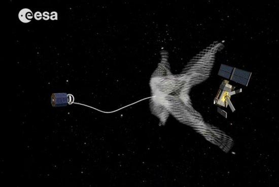 """欧洲空间局计划打造""""清道夫""""太空机器人,可自动清理轨道上的空间碎片"""