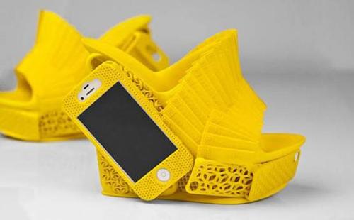 3D打印制作的高跟鞋