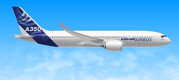 """""""这项技术在a350飞机上的首次应用是塑料支架部分的制作,这种"""