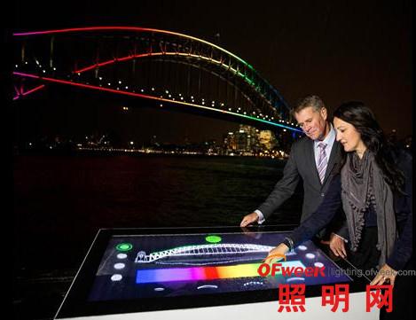 10万LED点亮澳大利亚悉尼海港大桥(图)