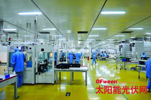 中国光伏企业生产车间图