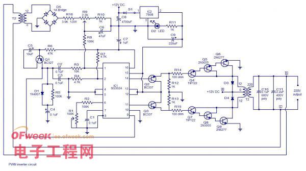 简单的逆变器电路图及pwm逆变器工作原理