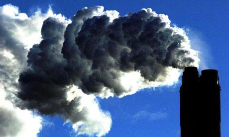 图:美国电厂的二氧化碳排放占总排放的40%。(自《卫报》)