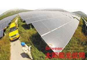 全省最大的清洁能源生产基地――徐州协鑫光伏电站