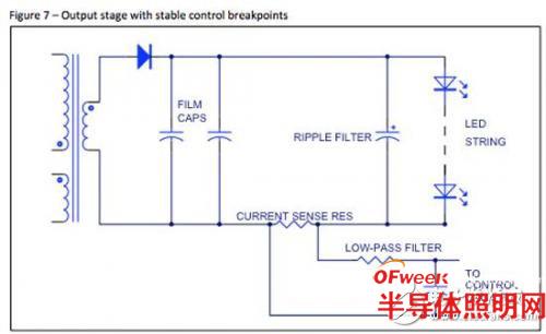 对于控制环路,用小smt组件构成的简单的阻容滤波器可以滤除120hz