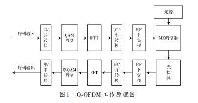 图1:O-OFDM工作原理图