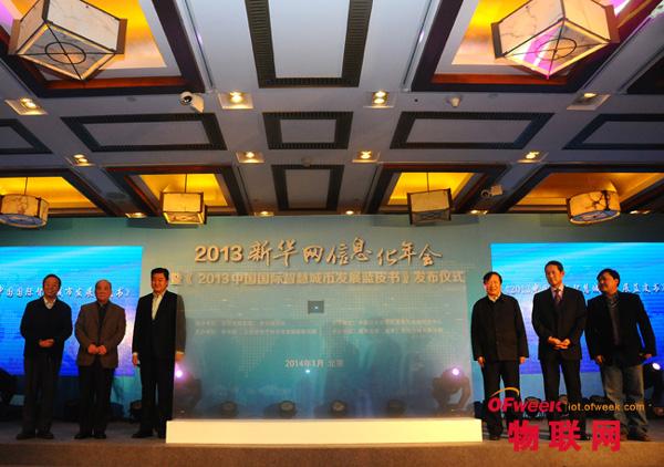 新华网总裁田舒斌与多位著名专家共同启动发布仪式
