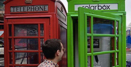 伦敦废弃电话亭变身太阳能手机充电站