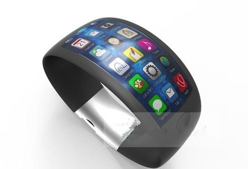 蓝宝石加弧面显示屏 苹果iwatch概念设计图曝光