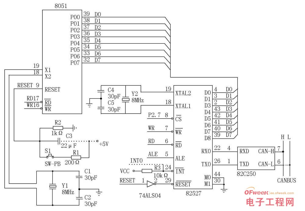 一种采用CAN总线的车灯控制系统设计