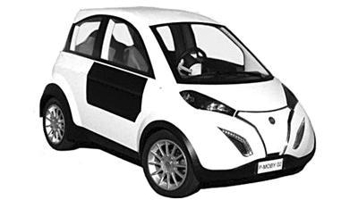 欧盟研发出太阳能微型电动车P-MOB