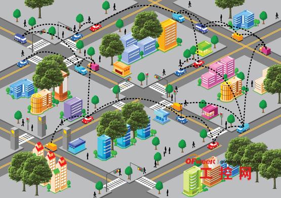 手绘道路交通平面图