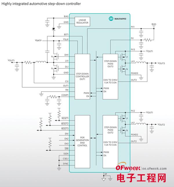 Maxim Integrated推出高集成度电源管理IC (PMIC)