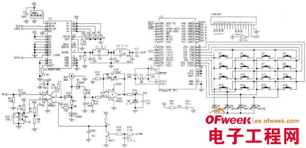 基于avr单片机的dds信号源电路图