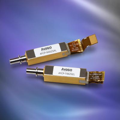 Avago Technologies推出适合CFP4 收发器应用紧凑型100Gbps光发射(TOSA) 和光接收(ROSA) 组件