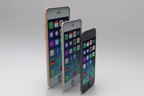 iphone 6的设计样机摆在一起时就能看出二者的尺寸
