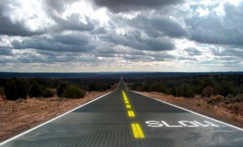 未来的公路可能会用玻璃制成
