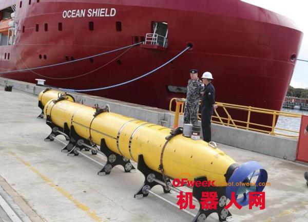美水下机器人加入马航搜救 外形奇怪酷似重型鱼雷