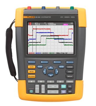福禄克推出首款500MHZ带宽的四通道手持式示波器