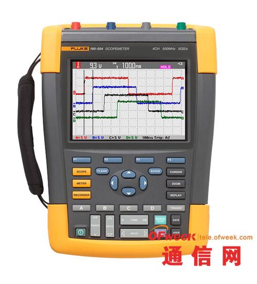 福禄克推出500MHZ 5GS/S采样率四通道手持式示波器