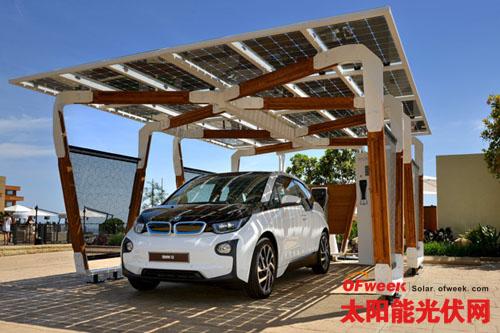 BMW为 i系列车款设计专用太阳能充电车棚