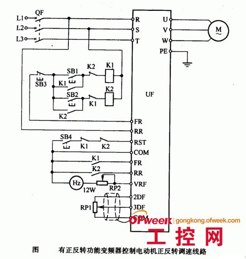 变频器控制电动机正反转