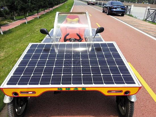佛山市民自制太阳能概念车(图)
