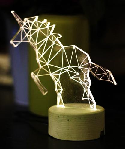 几何折线动物装饰灯 带你走入童话王国