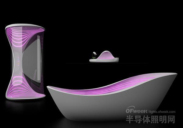 疯狂的米兰概念:用LED把极光搬进<a href=http://www.chinaena.com/wy target=_blank >卫浴</a>室