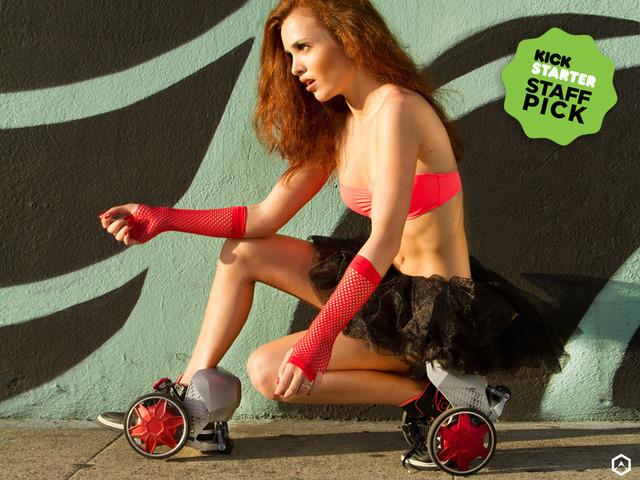 锂电代步鞋 四倍于平时行走速度