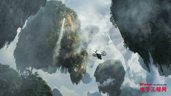 科幻电影《阿凡达》中的哈利路亚悬浮山