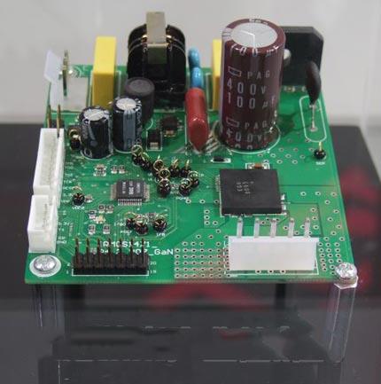 简称ir)展出了将6个gan功率晶体管元件构成的3相逆变器电路等集成于