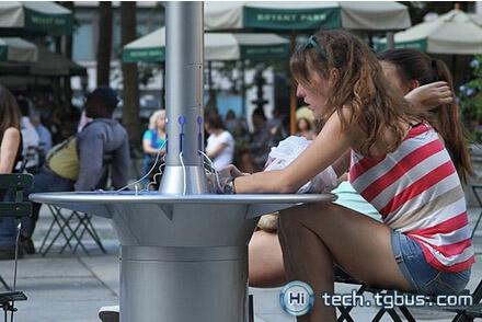 公共空间的移动式太阳能充电站