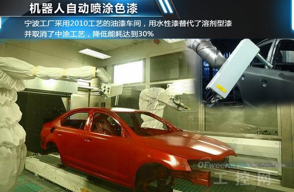 宁波工厂车身车间是目前上海大众机器人数量最多