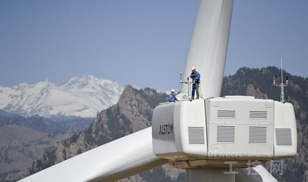 阿尔斯通有一款haliade150-6mw风轮机,是世界上最大的海上风轮发电