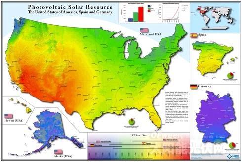 太阳能辐射地图