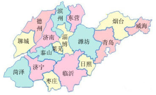 一,山东的行政区划    山东省共有17个设区的市