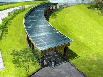 除了青岛火车站光伏发电系统外,还有北京奥体中心,威海粤海公园,威海