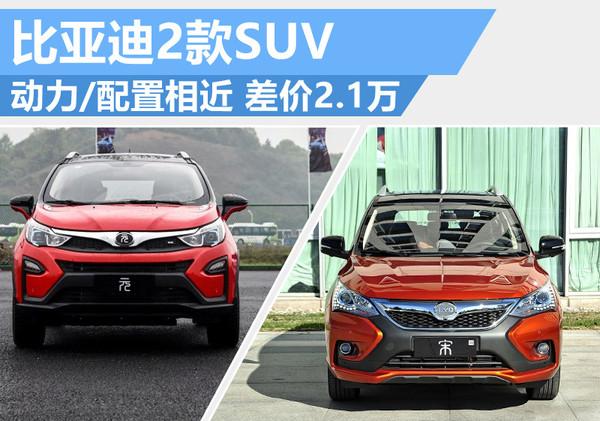 比亚迪宋vs比亚迪元:配置接近/差2.1万 新能源SUV选谁(图)