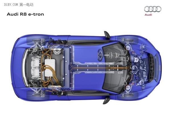 解读奥迪R8 e-tron的电池技术:续航451公里充电95分钟