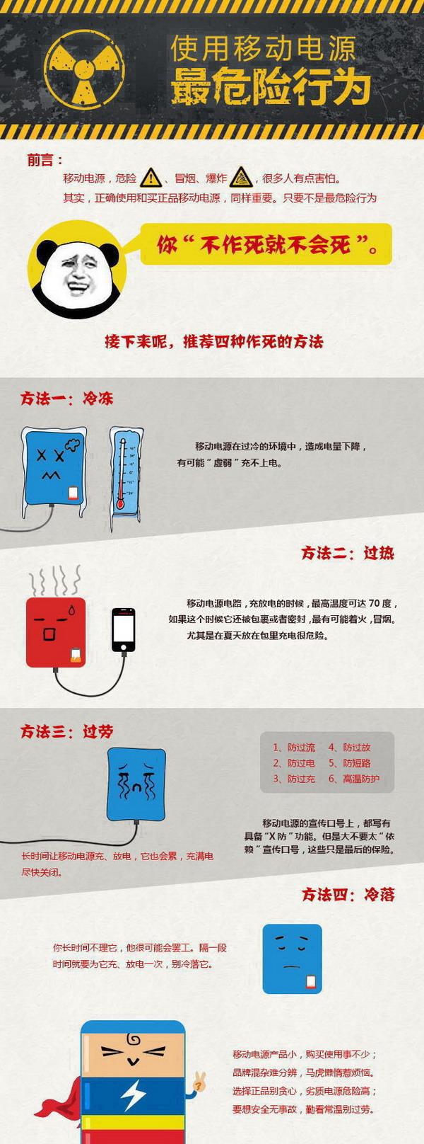 """移动电源""""作死""""的四种方法!"""