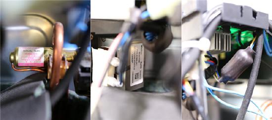 采用浙江三花生产的四通阀,四通换向阀是热泵空调器中的关键部件.图片
