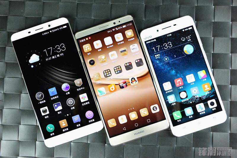 iPhone6s Plus/华为mate 8/魅族pro5/vivo X6旗舰指纹识别对比评测