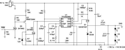 升降压拓扑 LED