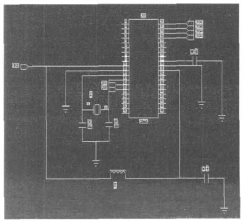 图2 单片机的外围电路设计