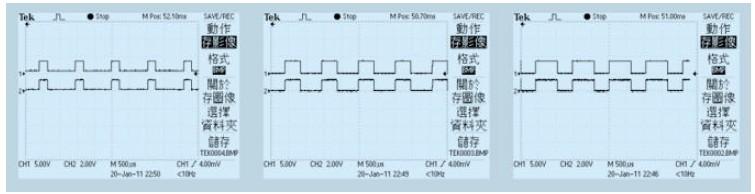 图6 驱动波形和限流电阻上电压波形