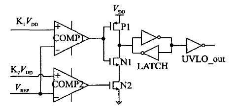 图2 两个比较器实现的欠压锁定电路