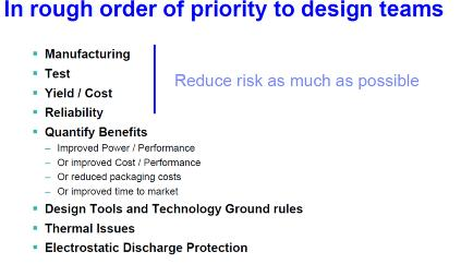 IBM所列出的TSV技术问题